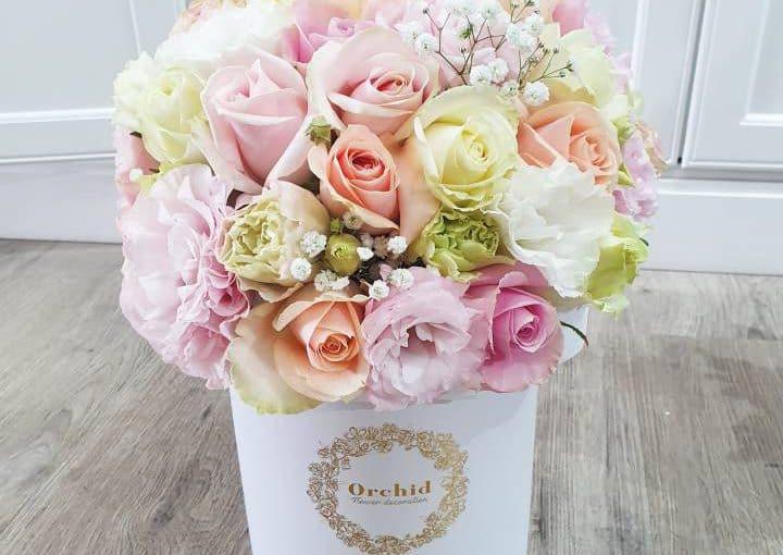 קופסאת פרחים פסטל