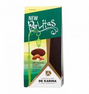 פרליטס - שוקולד מריר עם שקדים